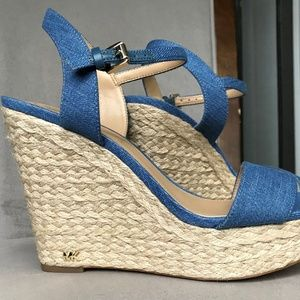 Michael Kors Women's Blue Wedge (denim) Sandals